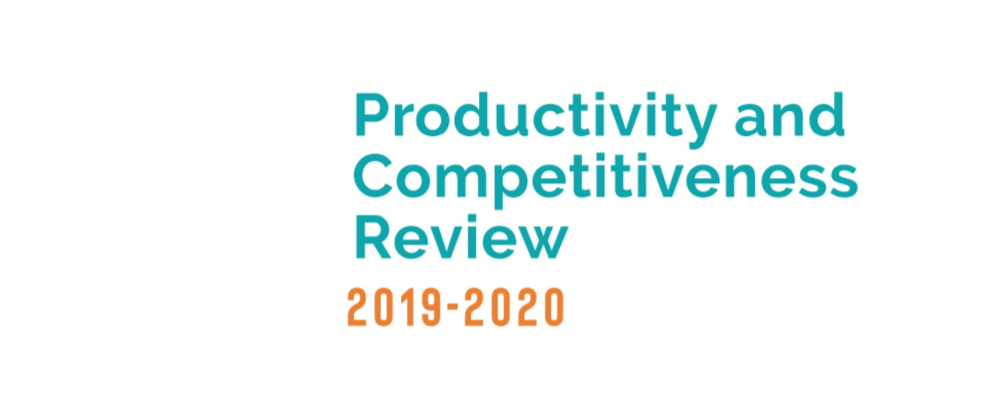 Productivity and Competitiveness Review 2020